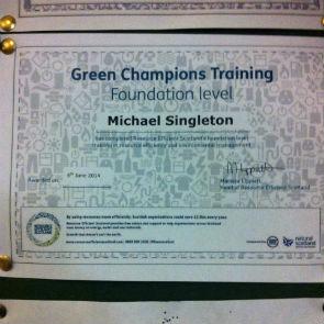Blog Picture - Resource Efficient Scotland Green Champions Training