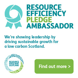 We are Resource Efficient Scotland Ambassadors